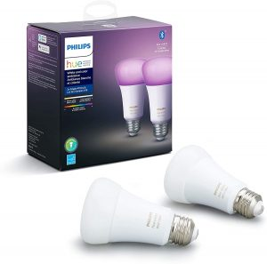 Philips Hue White and Color Ambiance 2-Pack A19 LED