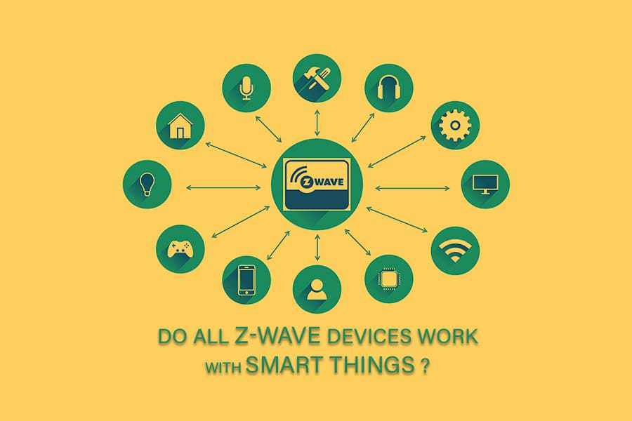 Z-wave devices work with SmartThings
