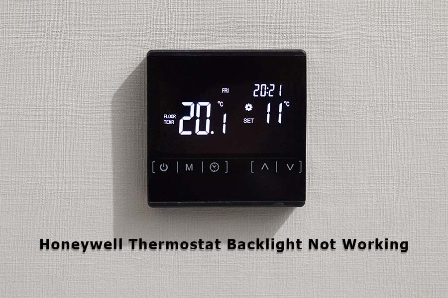 honeywell thermostat backlight not working