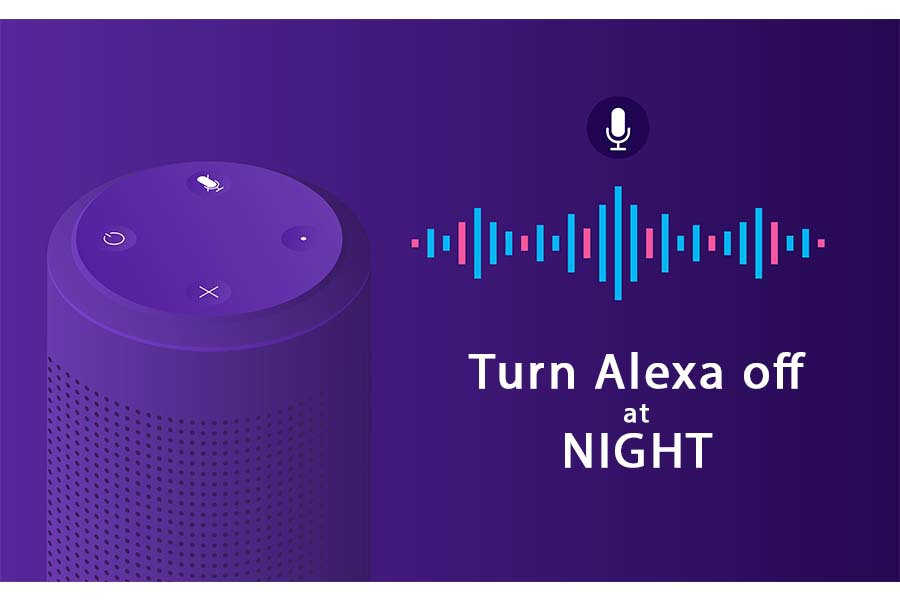how to turn off alexa off at night