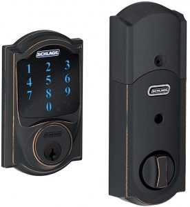 Schlage Touchscreen Deadbolt with Built-in Alarm BE469