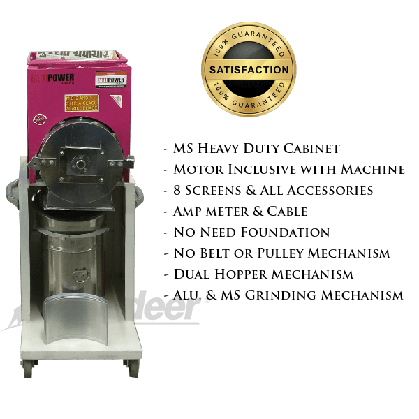 2hp ms 2 in 1 heavy pulveriser specifications