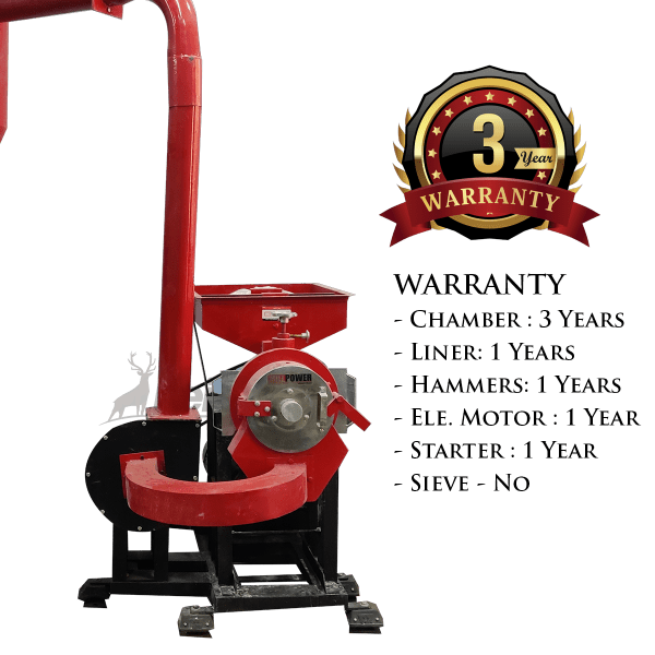 dual chamber pulverizer with blower warranty