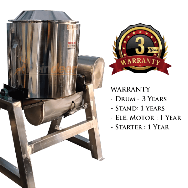 roasting and drying machine warranty