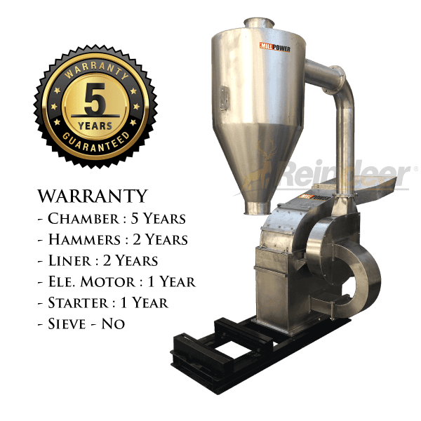 ss blower pulverizer heavy 5 year warranty